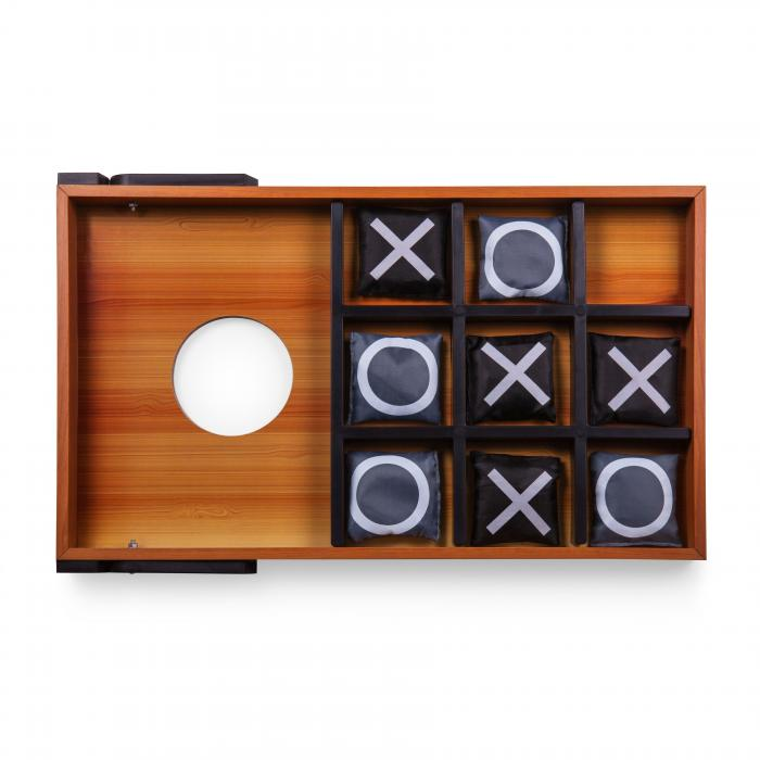 Picnic Time Mini Bean Bag Throw (Wood Grain with Bean Bag Toss and Tic-Tac-Toe Designs)