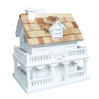 Home Bazaar Colonial Cottage Birdhouse, White