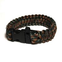 JB Outman Survival Bracelet With Whistle - Army Camo