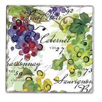 Counter Art Vin 27 Single Tumbled Tile Coaster