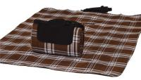 "Mega Mat Folded Picnic Blanket with Shoulder Strap - 48"" x 60""  (Chocoholic)"