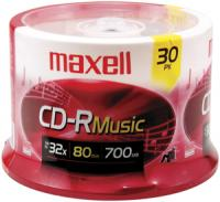Maxell 625335 Music CD-R, 30-Count Spindle