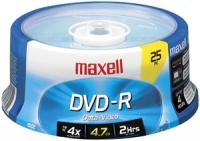 Maxell 635052/638010 4.7 GB DVD-R, 25-Count Spindle