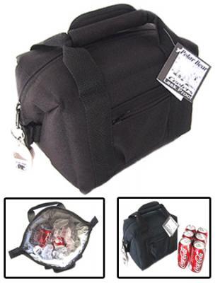 Polar Bear Black 6 Pack Soft Sided Cooler