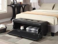 Designs4Comfort Front Drop Down Hinged Ottoman, Espresso