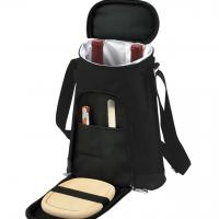 Picnic at Ascot Stylish 2 Bottle Insulated Wine Tote Bag with Cheese Board, Knife and Corkscrew - London Plaid