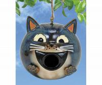 Coyne's Company Grey Cat Birdhouse