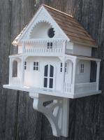 Home Bazaar  Shelter Island Summer Cottage Birdhouse - White