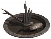 Loon Sundial Birdbath - Oil Rub Bronze