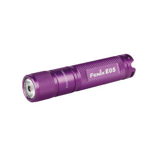 Fenix Outfitters 27 Lumen Fenix E Series Flashlight, AAA,Purple