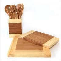 Ekco 10-Pc Bamboo Tool and Cutting Board Set