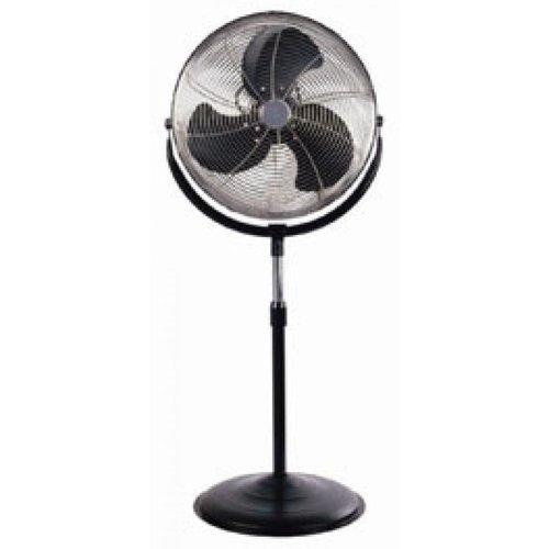 Optimus 18 Inch Chrome and Black Industrial Floor Stand Fan