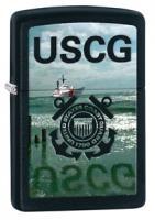 Zippo U.S. Coast Guard Black