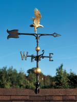 "30"" Full-Bodied Eagle Weathervane - Gold-Bronze"