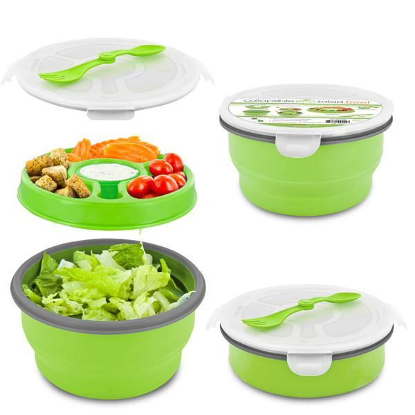 Smart Planet Green 65Oz Delux Collapsiable Salad