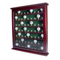 Mahogany Stained 63 Ball Cabinet with Acrylic Door and Latch
