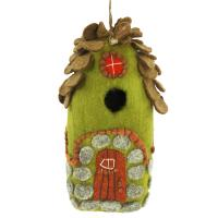 DZI Handmade Designs Forest House Felt Birdhouse