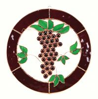 Gift Essentials Small Grapes n Vines Circle Window Panel