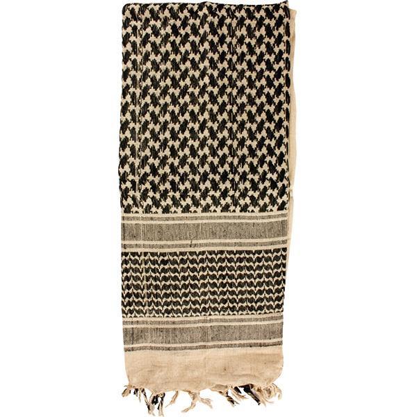 Shemagh Head Wrap, Khaki/Black