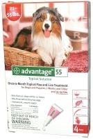 Advantage Dog Once-a-Month Topical Flea and Lice Treatment - 21-55 lbs.