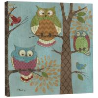 Tree Free Greetings Fantasy Owls Vertical Art Plaque