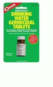 Coghlans Emergency Germicidal Drinking Water Tablet