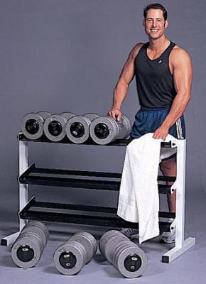 "Cap Barbell 48"" Wide 3-Tier Fitness Dumbbell Rack"