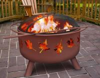 Landmann Steel Tree Leaves Clay Color Fire Pit