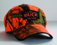BUCK Mossy Oak Blaze Orange Camo Buck Logo Cap