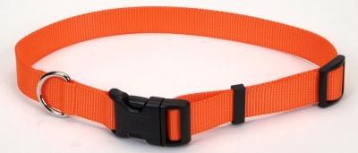 "Coastal Pet Products 6901 Tuff Nylon Adjustable Collar - 1"", Orange"