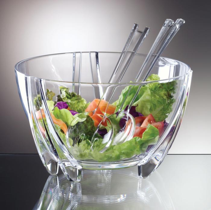 Prodyne SB3C Illusions 6 Quart Shatterproof Salad Bowl