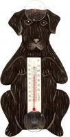 Songbird Essentials Begging Black Lab Small Window Thermometer
