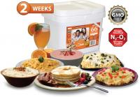Relief Foods 2-Week Emergency Food Supply - 66 Serving, Entrée & Breakfast Bucket