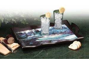 Golf Motif Serving Tray