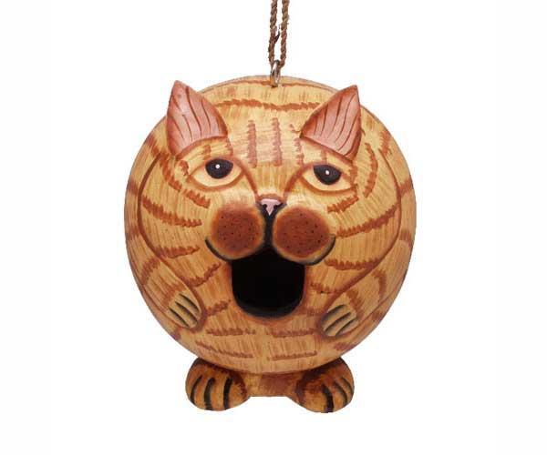 Bobbo Birdhouse Gord-O Cat Orange Tabby