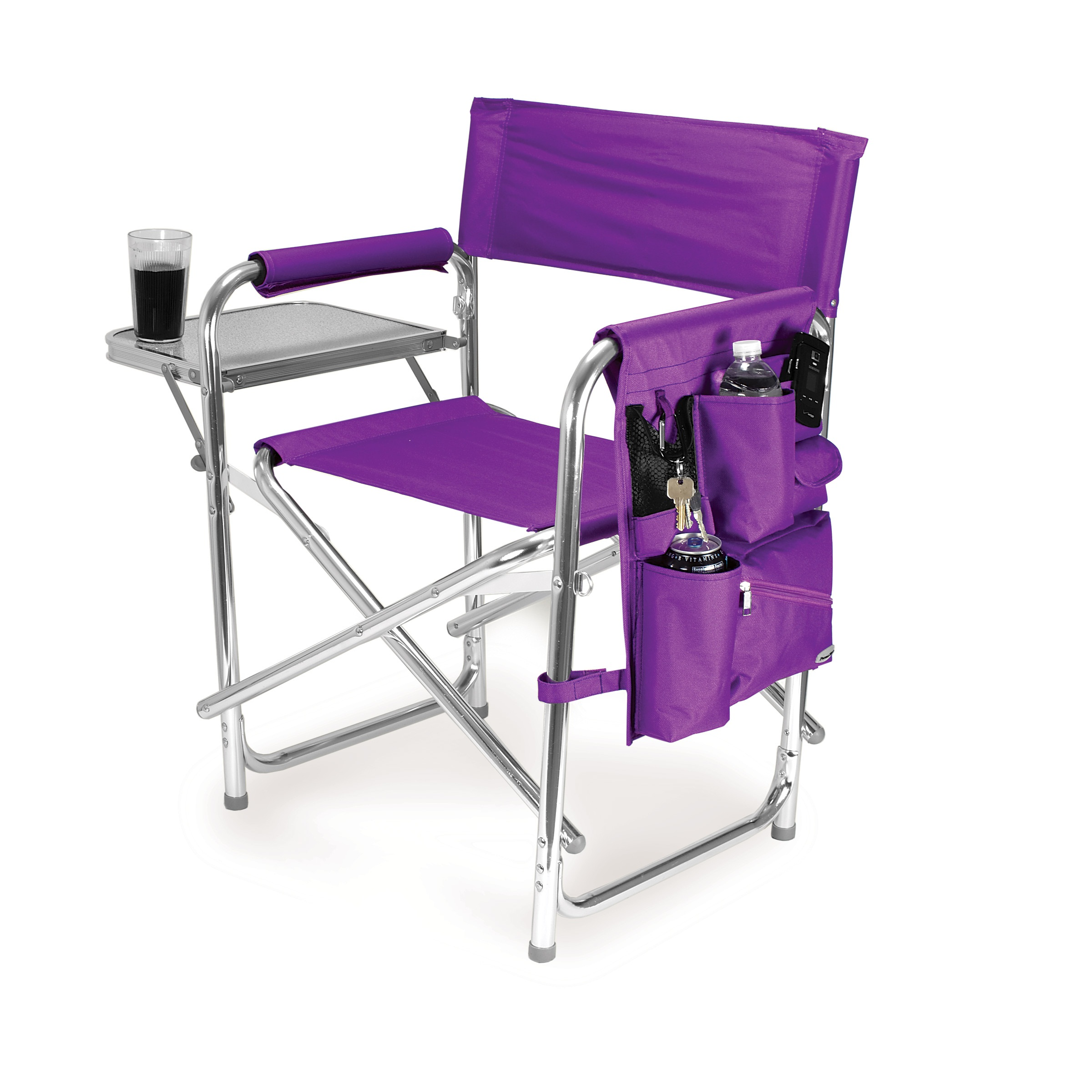 Picnic Time Purple Portable Folding Sports Camping Chair