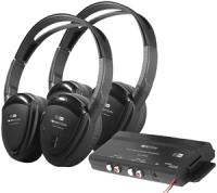 Power Acoustik HP-902RFT 2 Swivel Ear Pad, 2-Channel RF 900 MHz Wireless Headphones with Transmitter