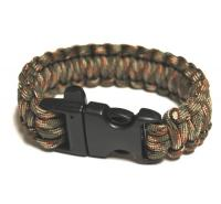 JB Outman Survival Bracelet With Whistle - OD Green Camo