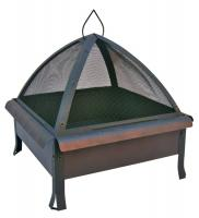 Fire Pit - Tudor - Oval/Circle Embossed - Speckled