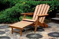 Faux Wood Folding Adirondack Chair with Ottoman