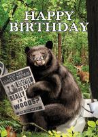Tree Free Greetings Bear in the Woods Birthday