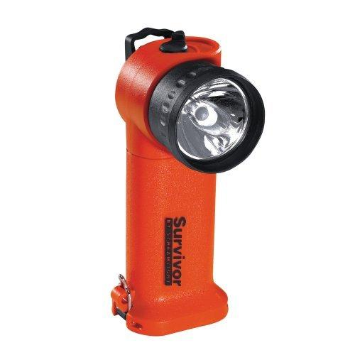 Streamlight Survivor Right-Angle LED Flashlight, Rechargeable, Light Only, Orange
