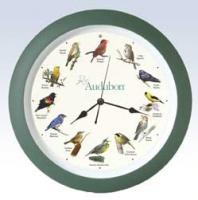 "Mark Feldstein 13"" Green Audubon Bird Clock"