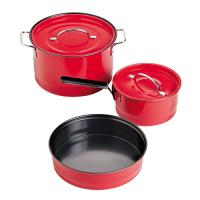 Coleman Cookware Family Cookset - Red Enamel