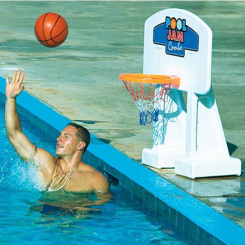 Swimline Pool Jam Combo Inground Volleyball/Basketball Game