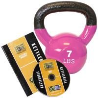 Gofit GF-KBELL7D Premium Kettlebell With Training DVD (7 Lbs; Magenta)