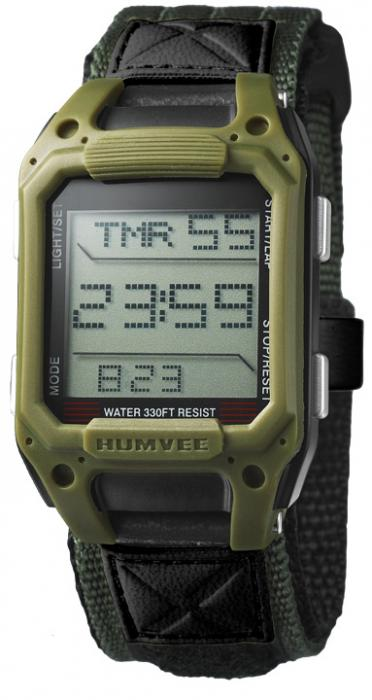 HUMVEE Recon Black Nylon Strap Watch