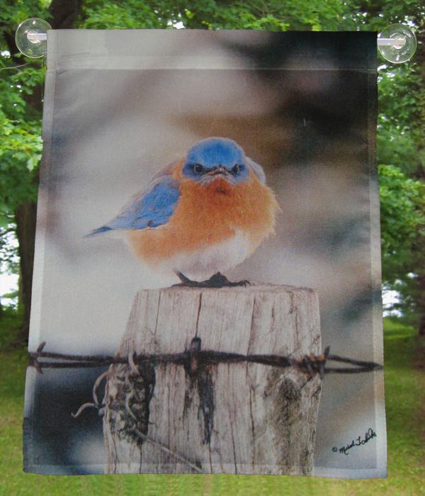 Songbird Essentials Flag Garden, Mad Bluebird