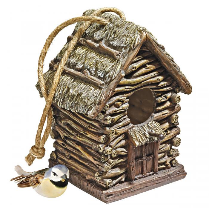 Design Toscano Backwoods Cottage Birdhouse