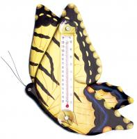 Songbird Essentials Yellow Swallowtailed Butterfly Large Window Thermometer